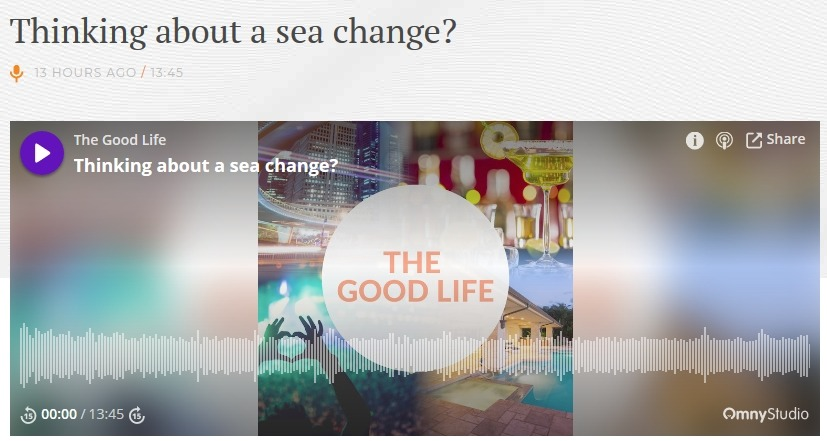 The Good Life Interview - thinking about a sea change